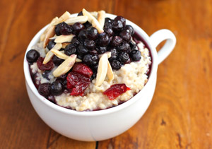 Wild Blueberry, Cranberry and Almond Oatmeal Picture