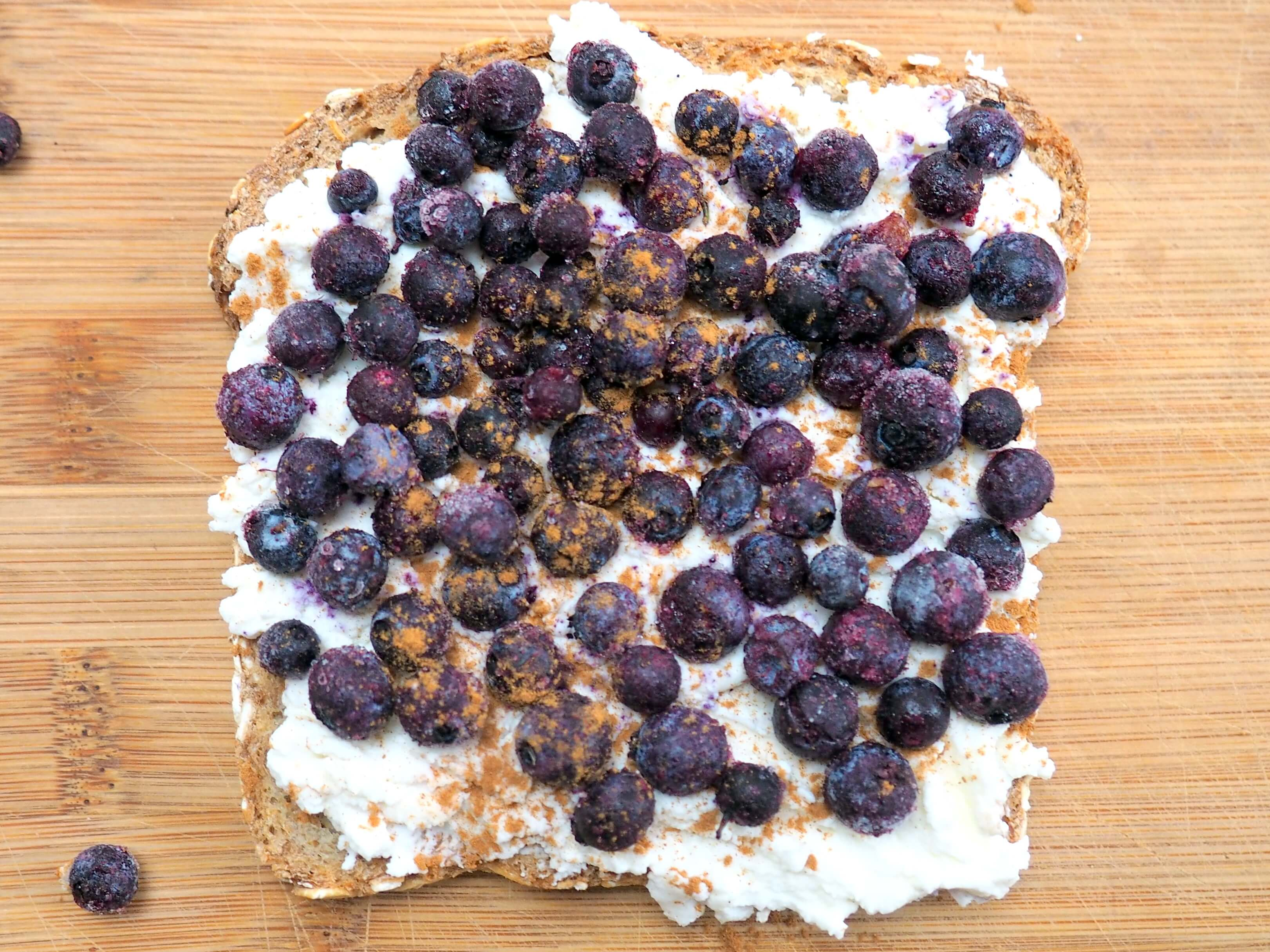 Wild Blueberry and Cream Toast Picture