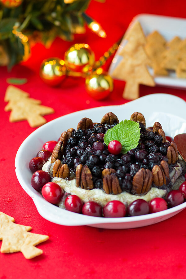 Wild Blueberry Pecan Baked Brie with Holiday Spices Picture