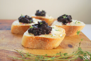 Wild Blueberry Jam Crostini Picture