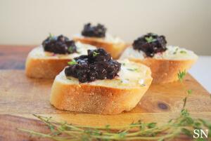 Wild Blueberry Jam Crostini Picture