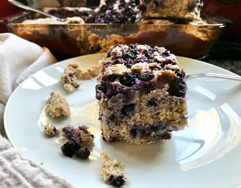 Wild Blueberry Lemon Coconut Breakfast Cake Bars Picture