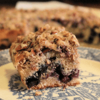 Wild Blueberry Coffee Cake with Chai Glaze Picture