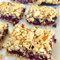 Healthy Wild Blueberry Crumble Bars Picture