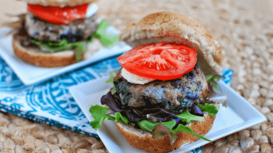 Wild Blueberry & Spinach Turkey Burgers Picture