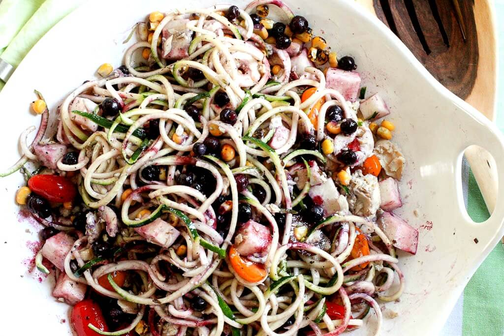 Wild Blueberry Zoodle Bowl Picture