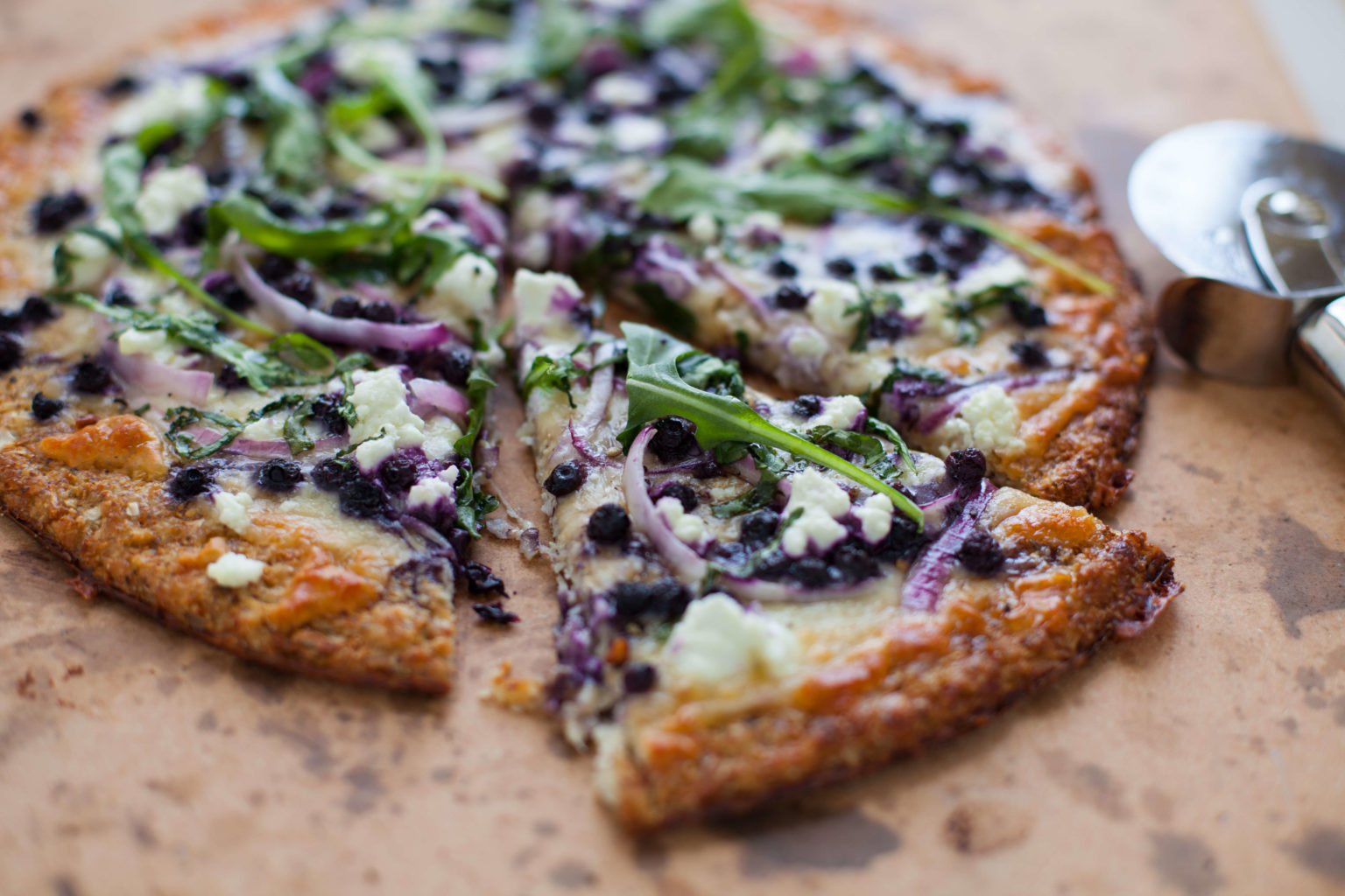 Savory Wild Blueberry Pizza with Cauliflower Crust Picture