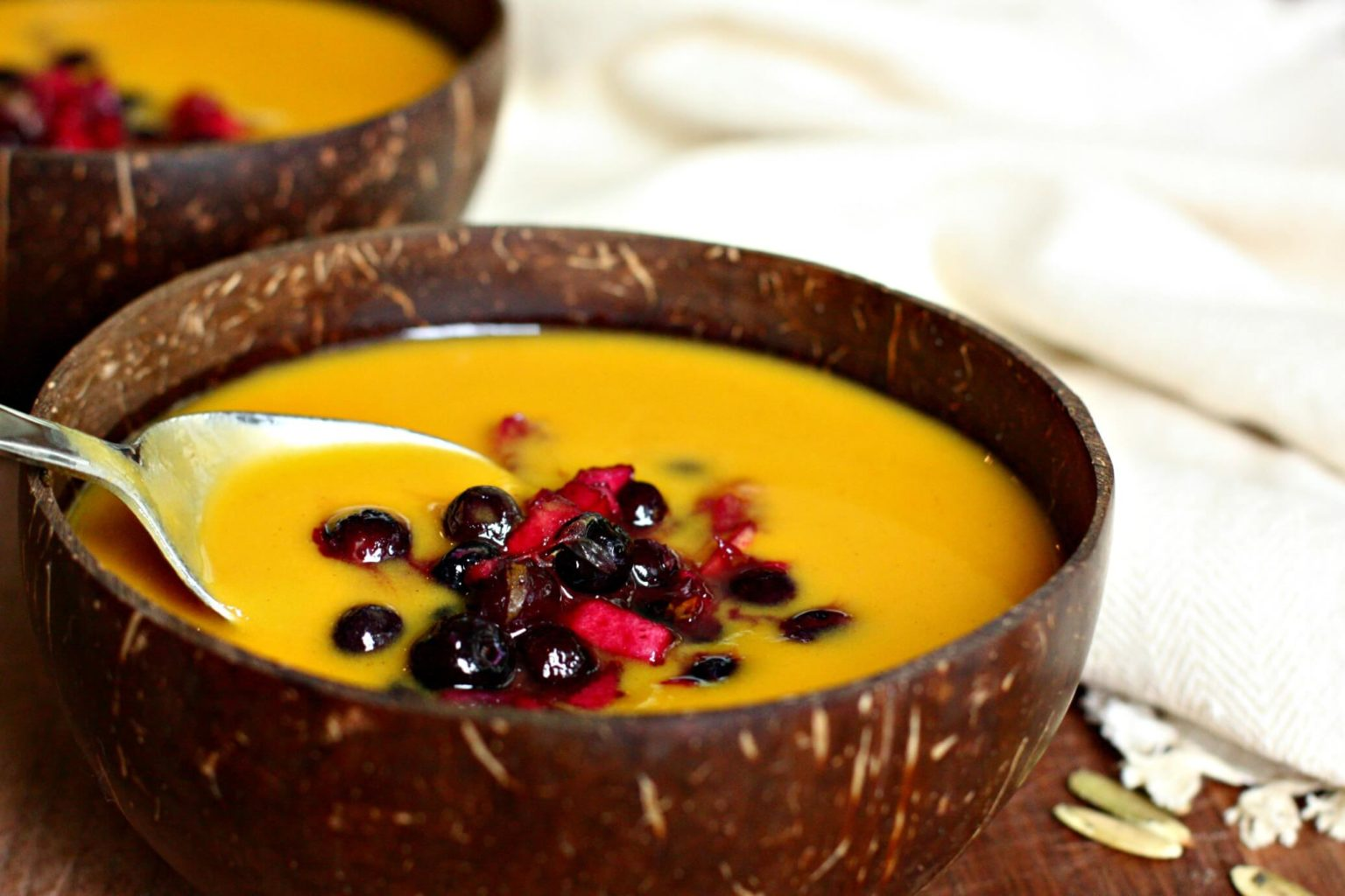 Butternut Squash Soup with Wild Blueberry Relish Recipe ...