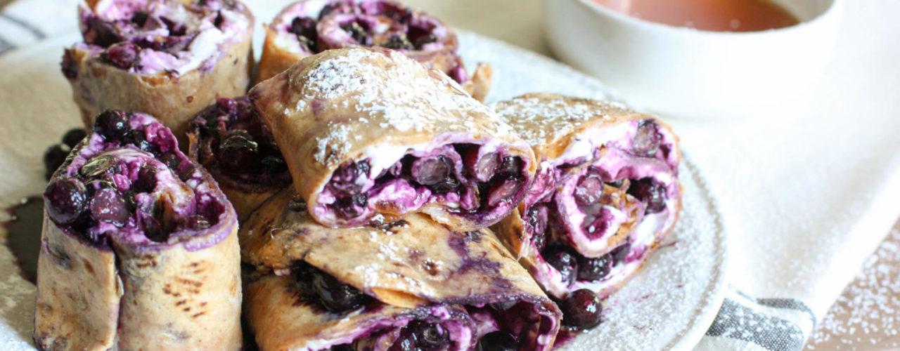 Wild Blueberry French Toast Pinwheels
