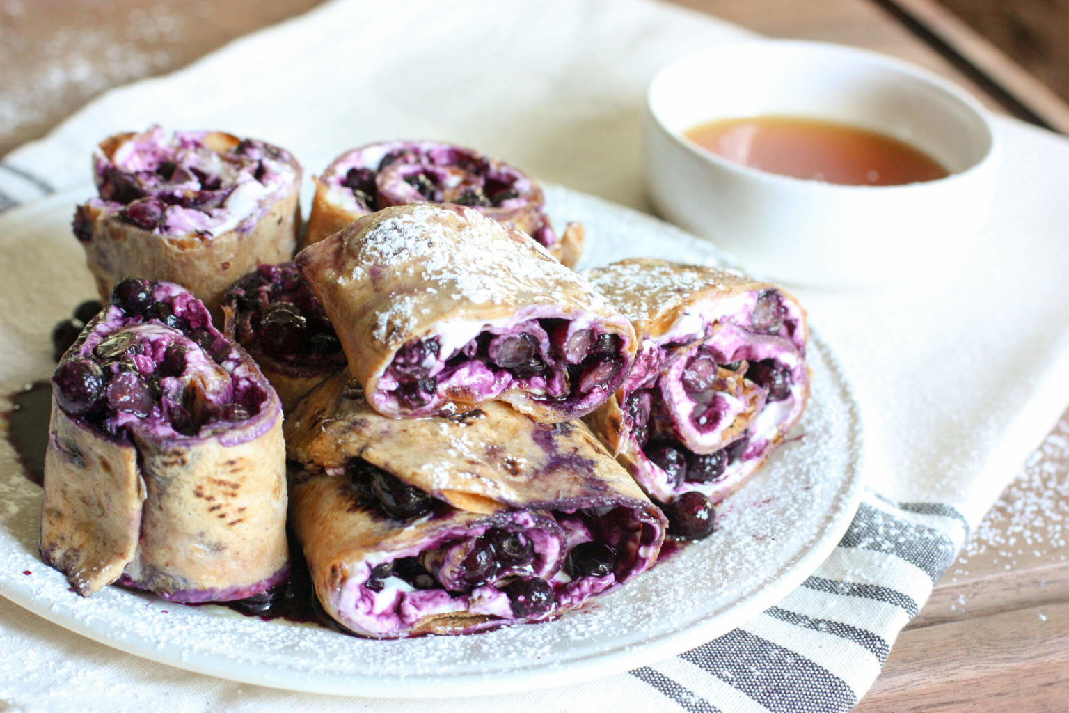 Wild Blueberry French Toast Pinwheels Picture