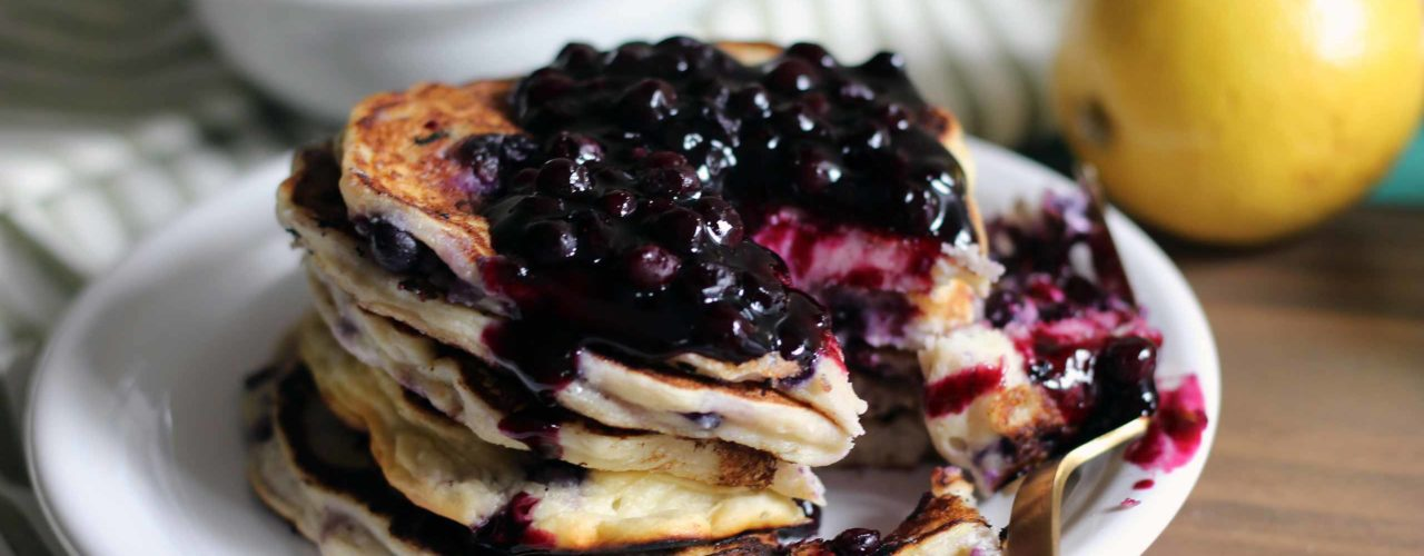 Wild Blueberry Ricotta Pancakes