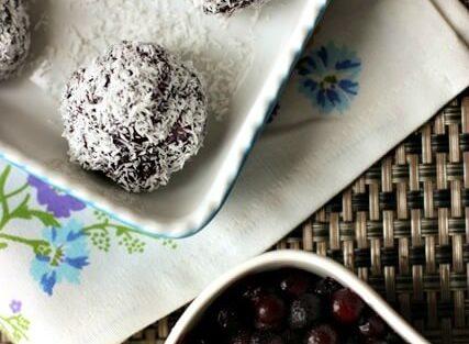 Raw Wild Blueberry Snack Balls