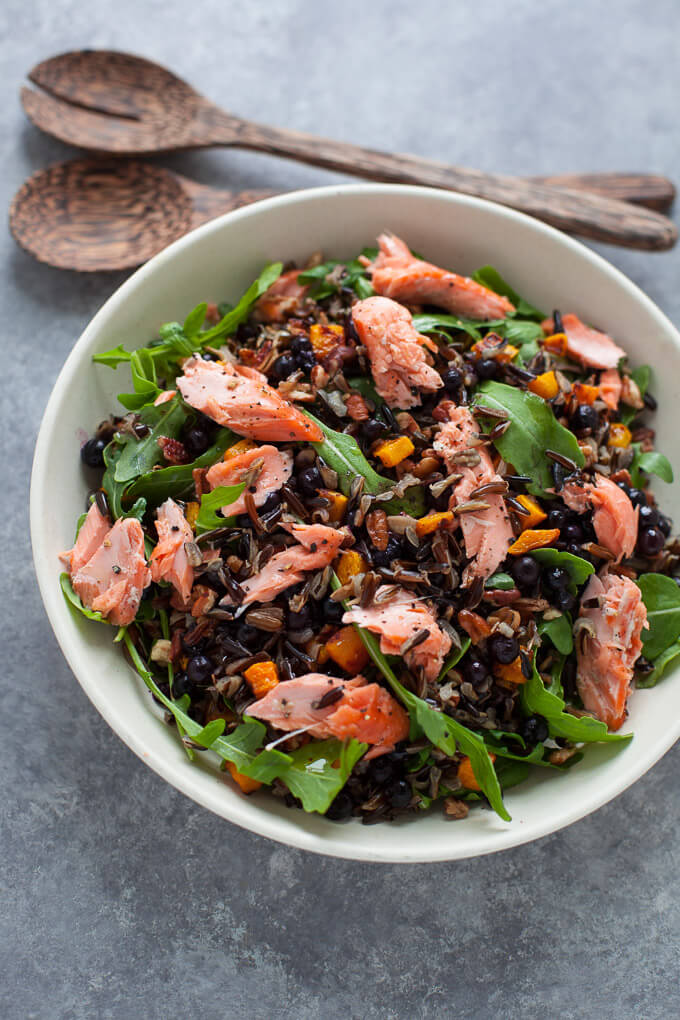 Wild Foods Salad with Wild Blueberries Picture