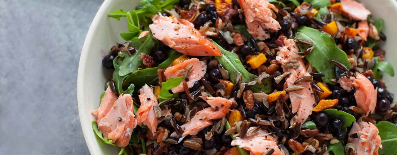 Wild Foods Salad with Wild Blueberries
