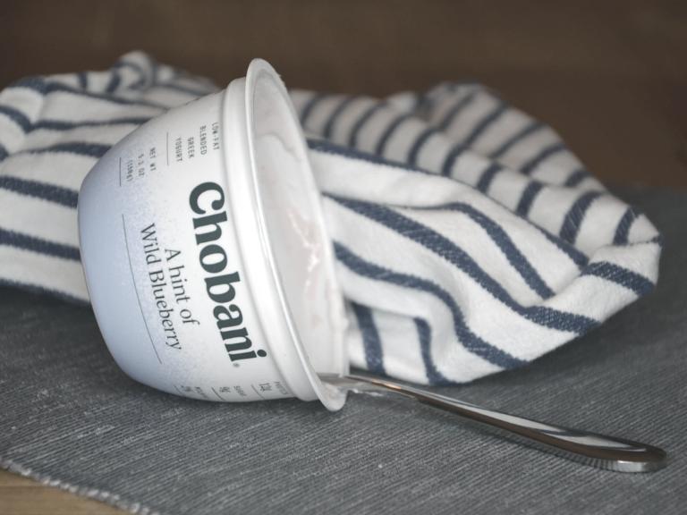 Chobani blueberry yogurt